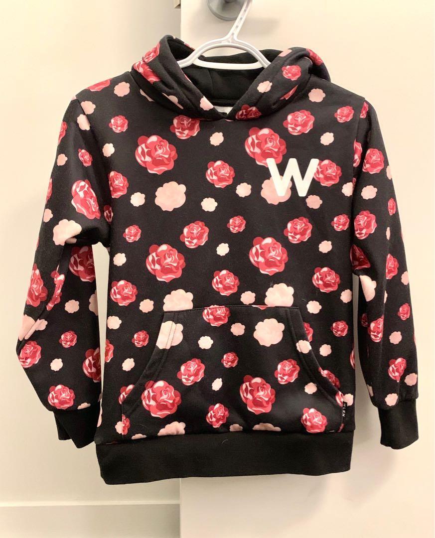 Rose print hoodie by WLKN
