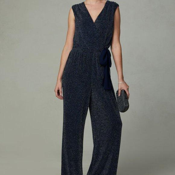 SD Collection Glitter Jumpsuit NWT