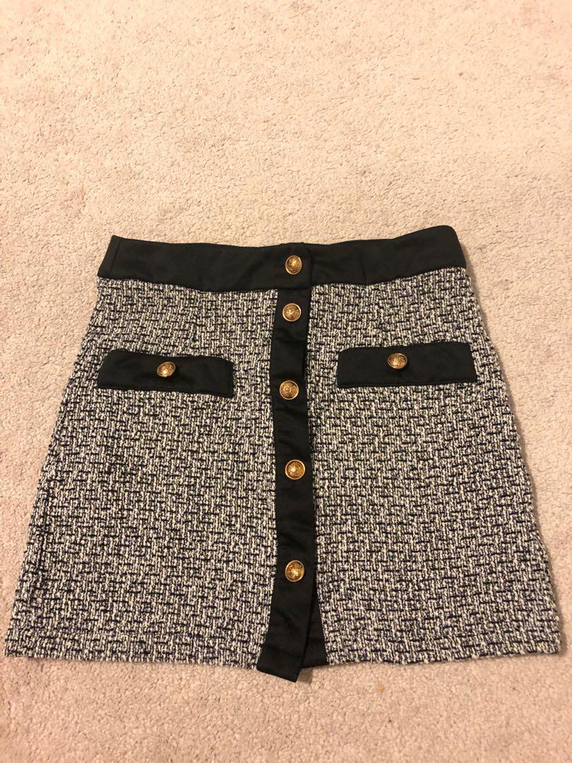SHIEN tweed skirt