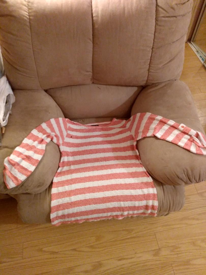 Striped loose sweater