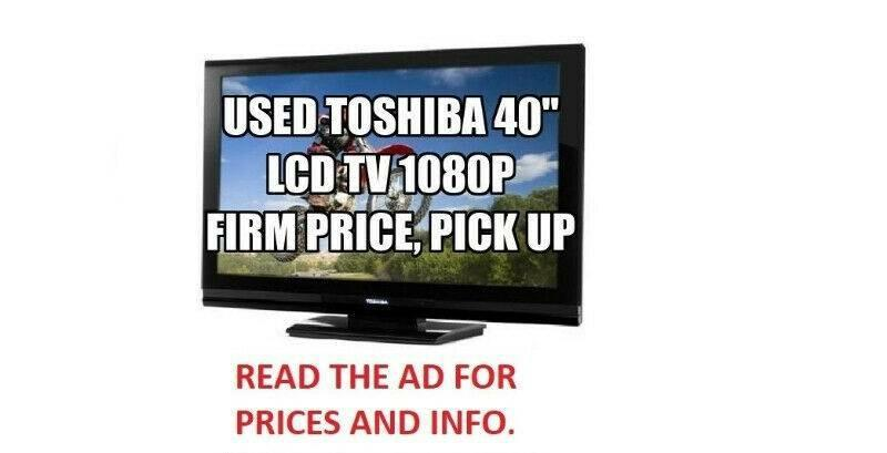 """Toshiba 40"""" LCD HDTV 1080p High Definition Television TV 40 inch"""