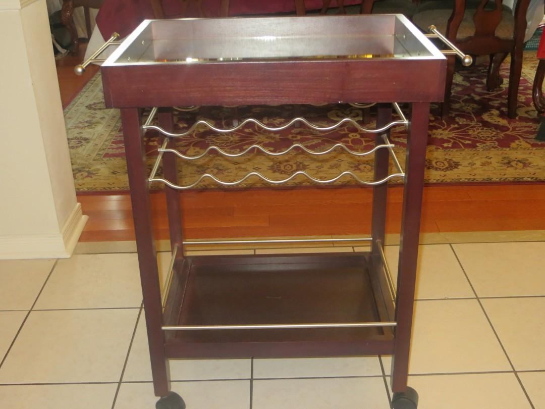 Wine Table and Rack