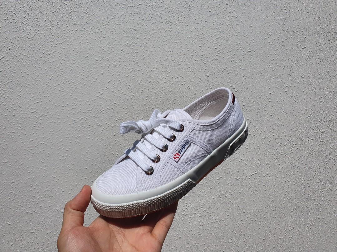 Size 5] SUPERGA 2750 WHITE-SCARLET