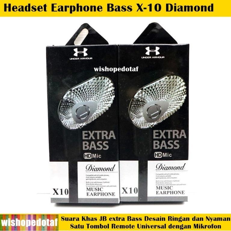 X-10 Diamond Bass HQ Earphone Headset