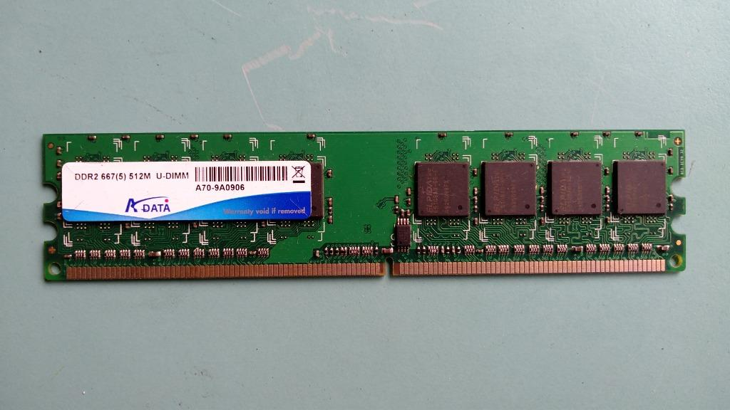 (良品) ADATA威剛 DDR2 667(5) 512M DDR2記憶體 單面