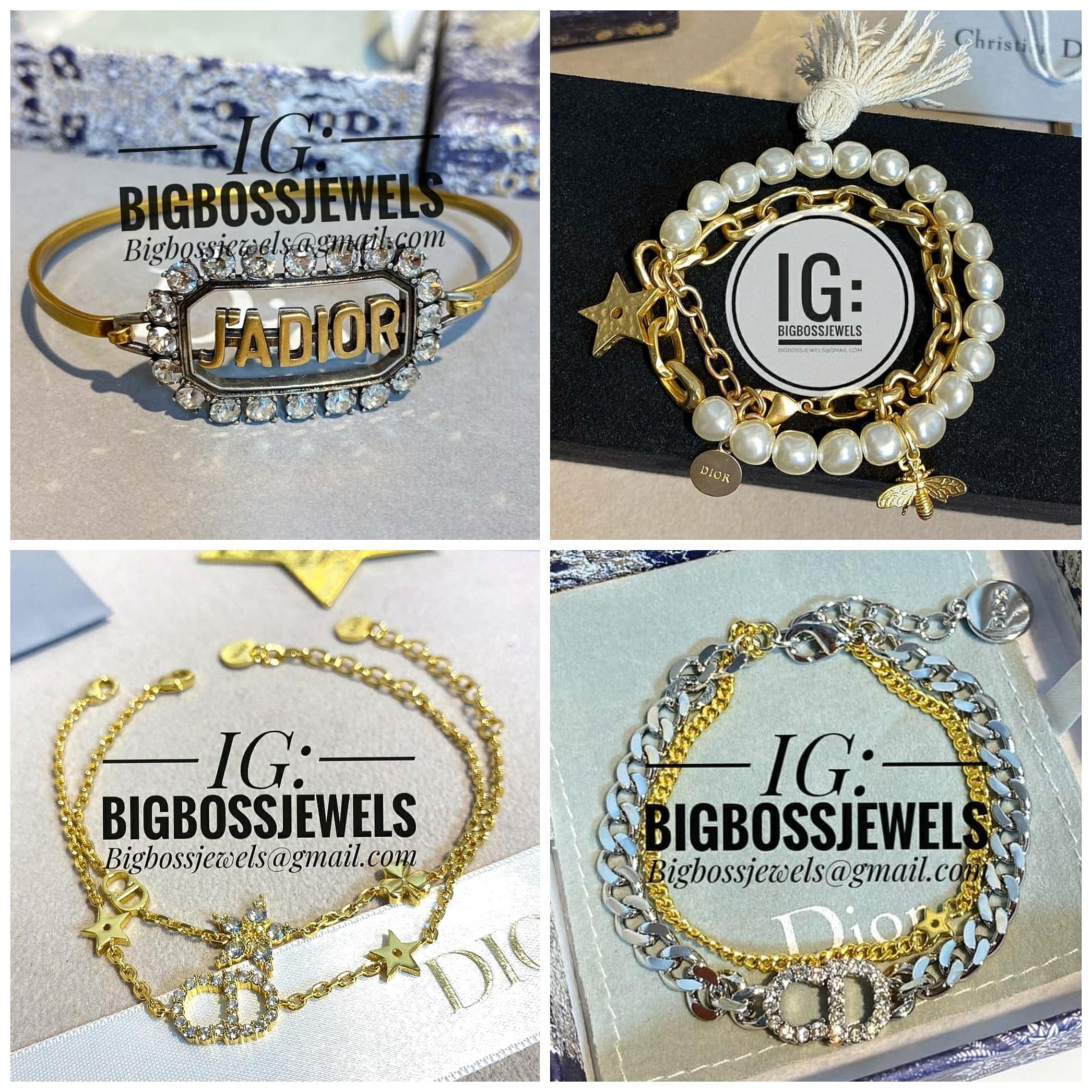 Bracelet Bangle Gold Rose Gold Silver Swarovski Diamond Like Crystals Jadior Pearl Chain Cuff 12 Zodiac Earrings Women S Fashion Jewellery Bracelets On Carousell