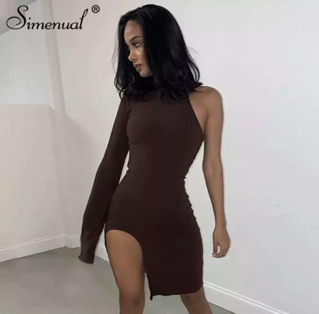 Brand new size small brown dress