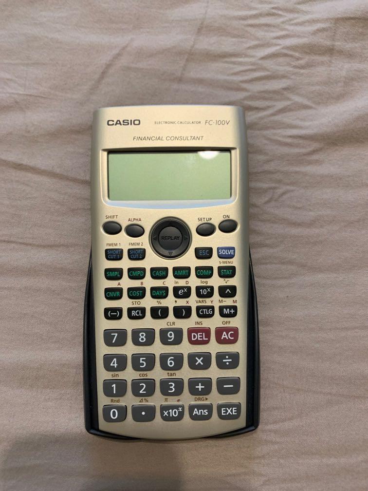 CASIO 卡西歐 財務型計算機 FC-100v