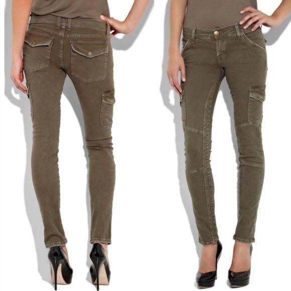 CURRENT/ELLIOTT Skinny Cargo Combat Jeans