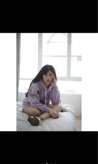 Hoodie lilac oversize