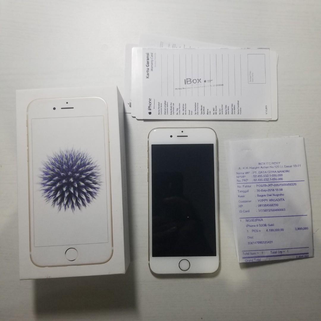 iPhone 6 32 GB EX IBOX (Pemakaian Pribadi)