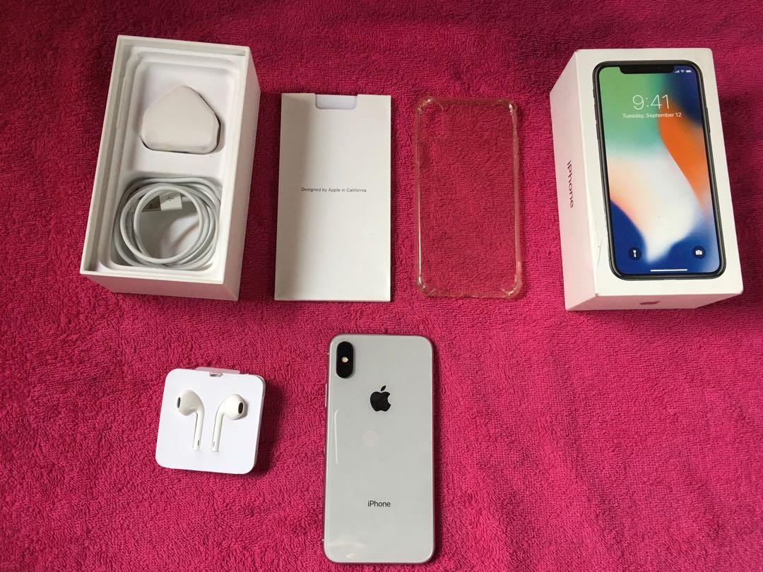 Iphone X 256Gb Silver Ex Singapore ZP/A