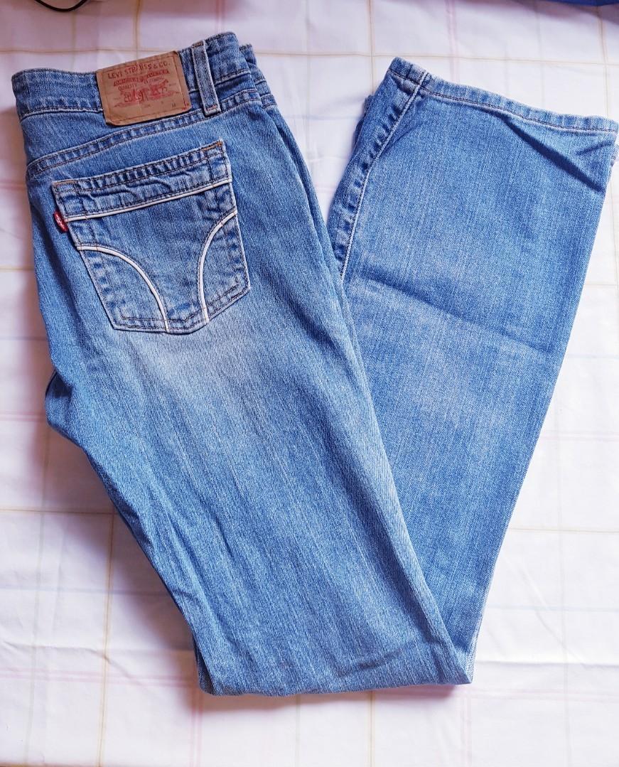 Levi's Denim Jeans Low-rise Flare