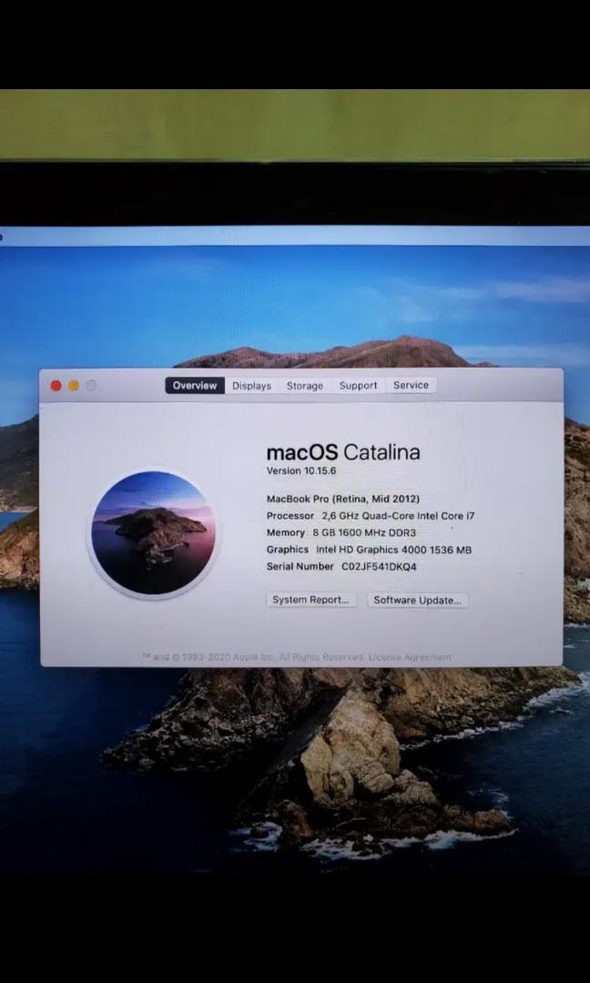 "Macbook Pro Retina 15"". Core i7. 2012"