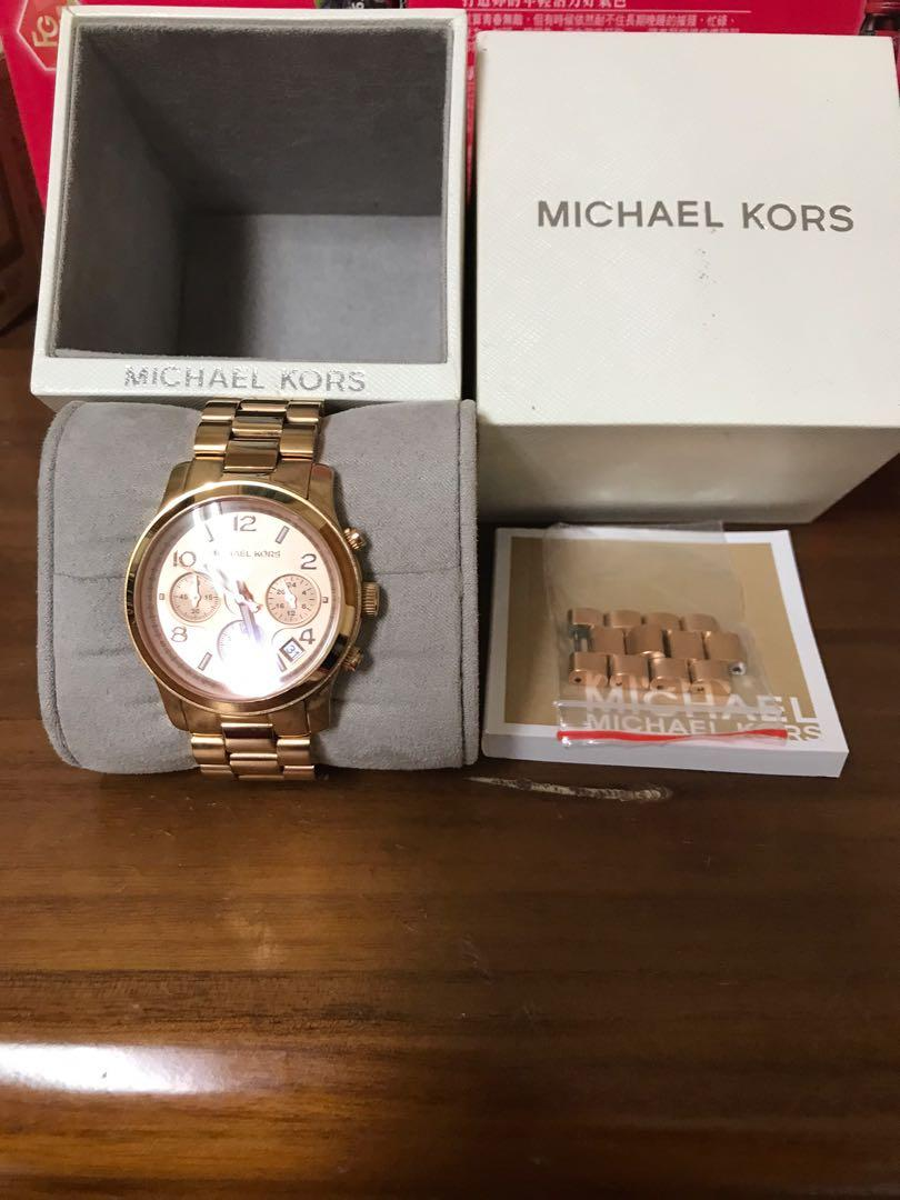 MICHAEL KORS玫瑰金手錶