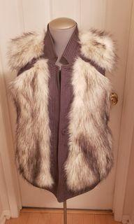 Rebecca taylor faux  fur vest ( Medium)
