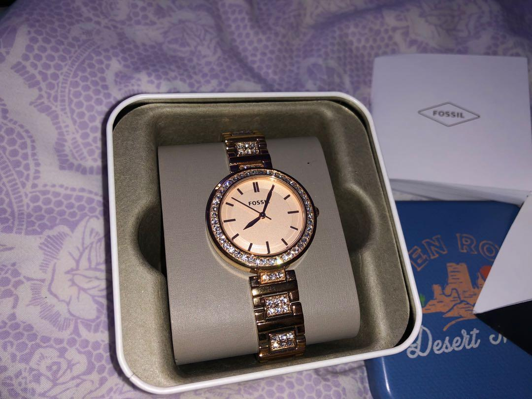 ROSEGOLD FOSSIL WATCH