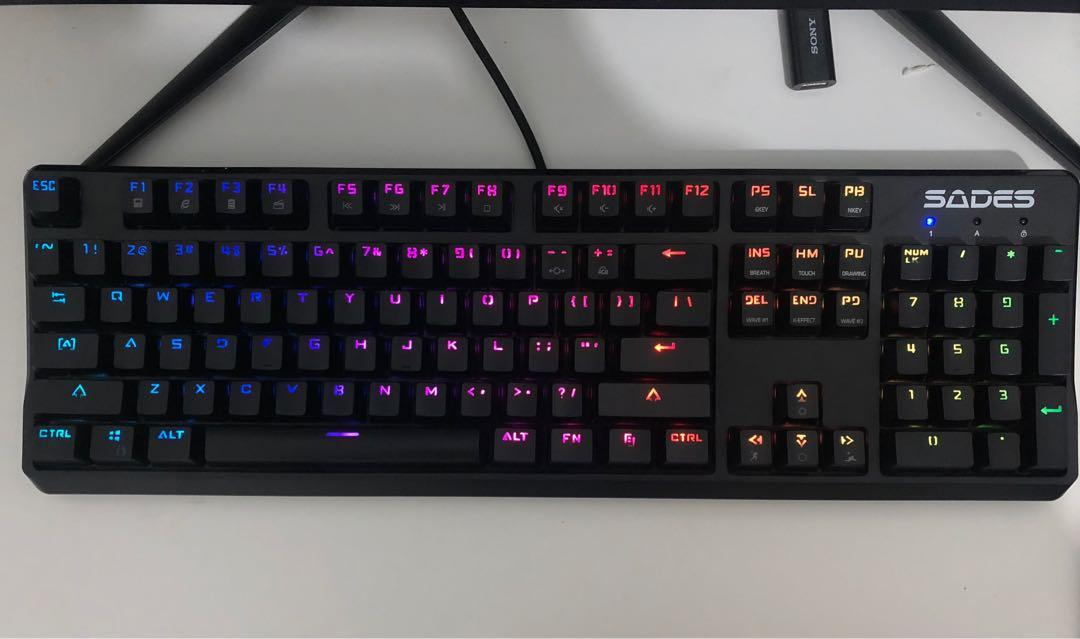 Sades GROZA Macro Mechanical Switch Optical RGB Gaming Keyboard (Second)