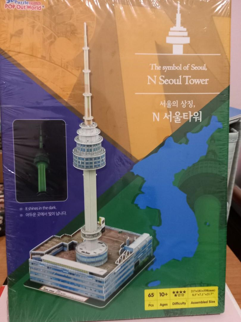 3D Puzzle Pop Out World N Seoul Tower