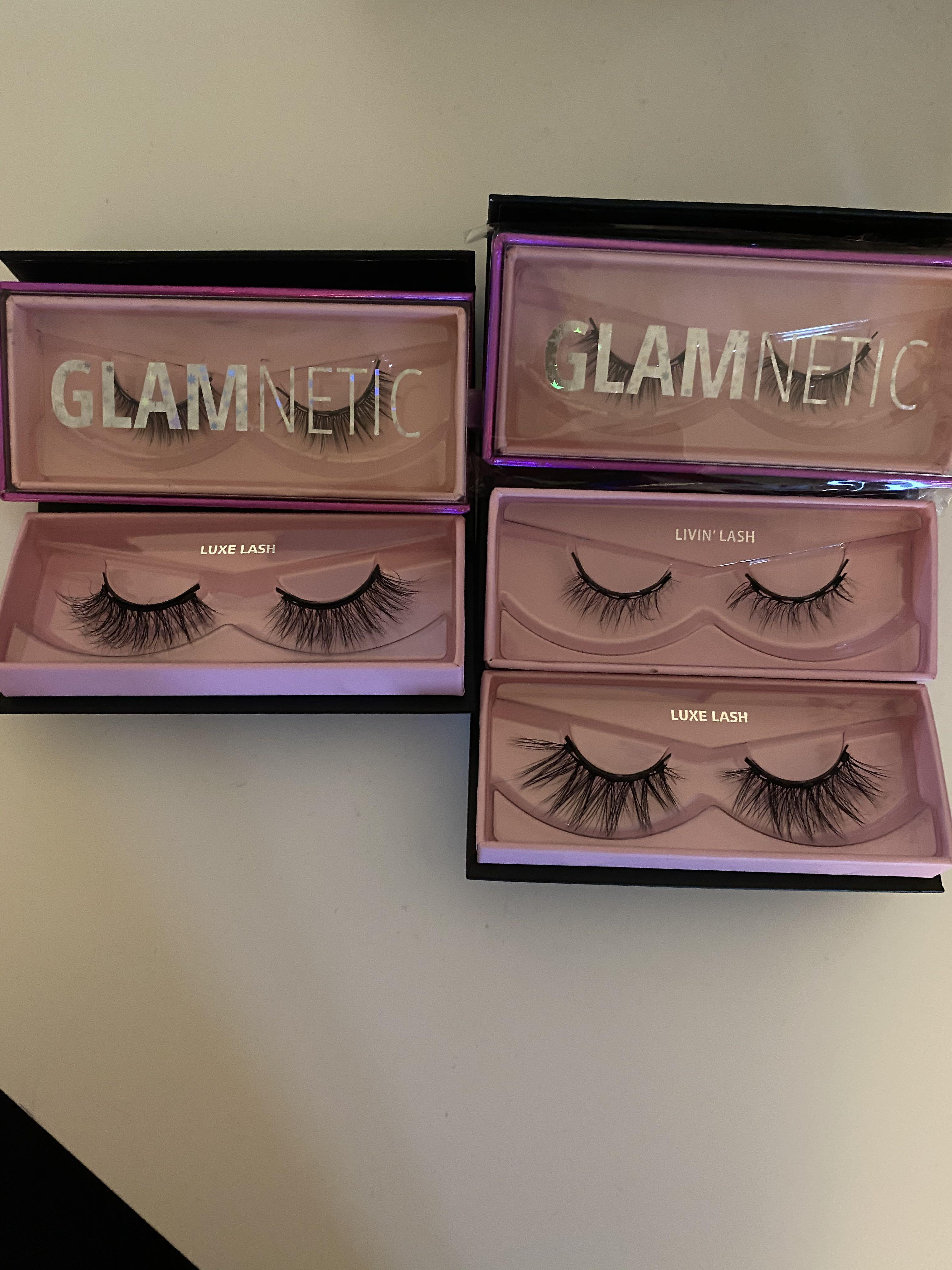 5 sets of Glamnetic lashes (best sellers)