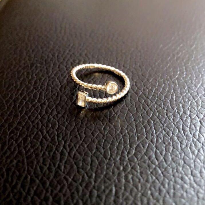 925ss CZ adjustable ring