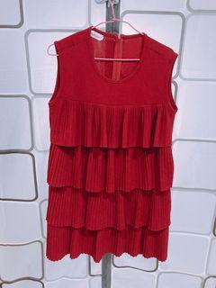紅色蛋糕洋裝