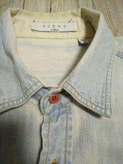 英國 倫敦 男版 手洗 作舊 騎士 襯衫 size:M