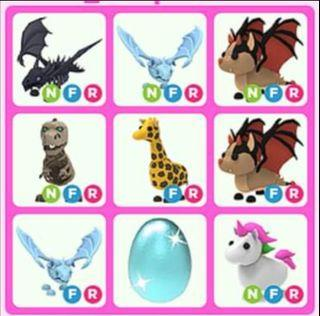 Adopt Me Pets Roblox All Kinds of Item Neon Mega Fly Ride NFR MFR! !!