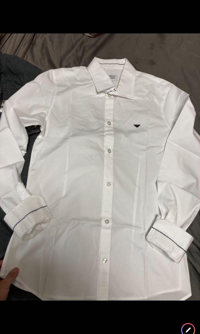 Armani 全新白襯衫 專櫃一萬多 便宜賣 大童16y