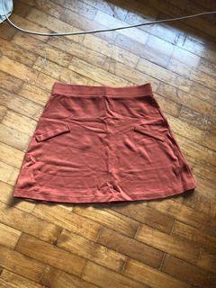 ASOS Brown/ burnt orange A line skirt