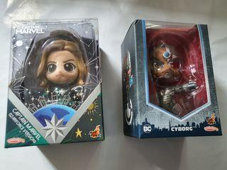 Authen tic Cosbaby - Captain Marvel  / Cybotg  (Each at $32)