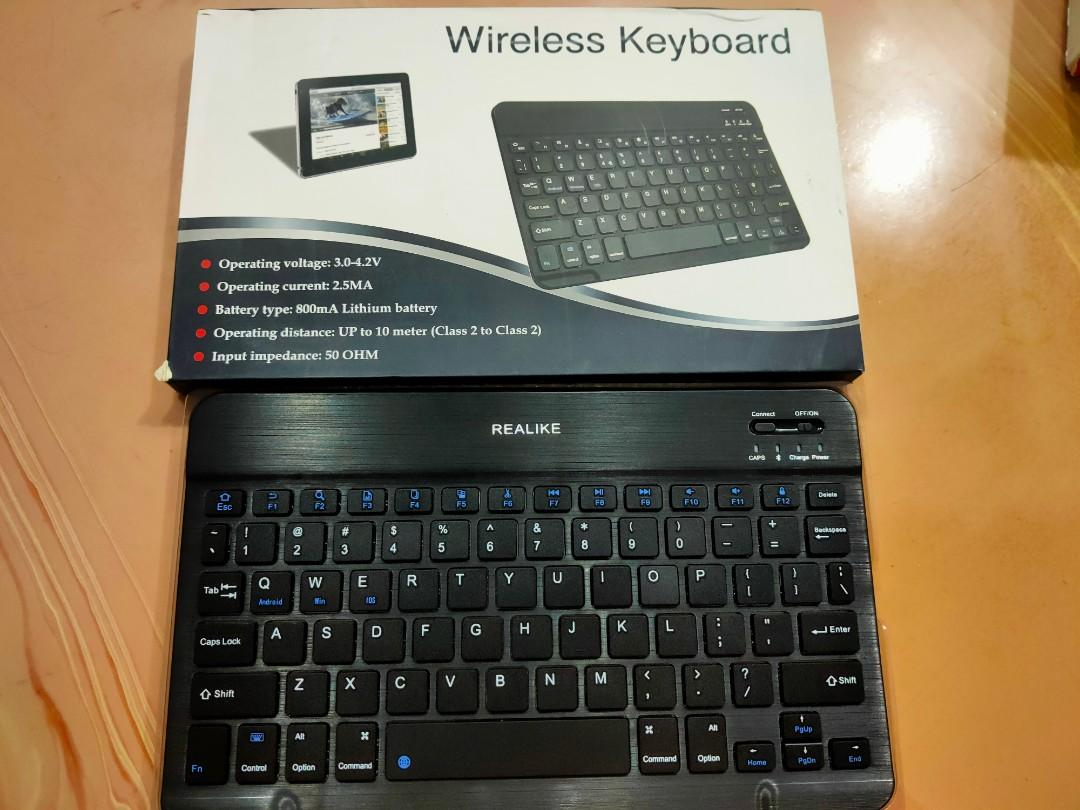 Ultra-Slim Rechargeable Wireless Bluetooth Keyboard for iOS iPhone iPad Pro and Mac Compatible with iPad Android Tablets Windows Android