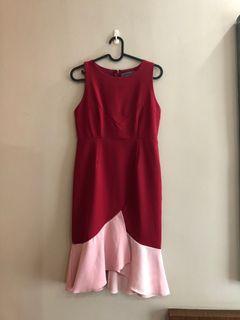 Butterflies Marigold Red mermaid dress