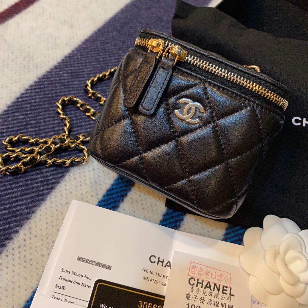 全新現貨Chanel正品限量款黑色金鍊小羊皮包