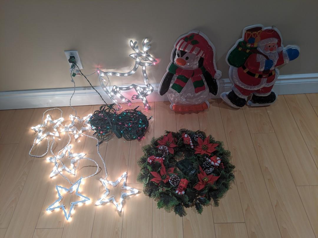 Christmas lights decor set of 6