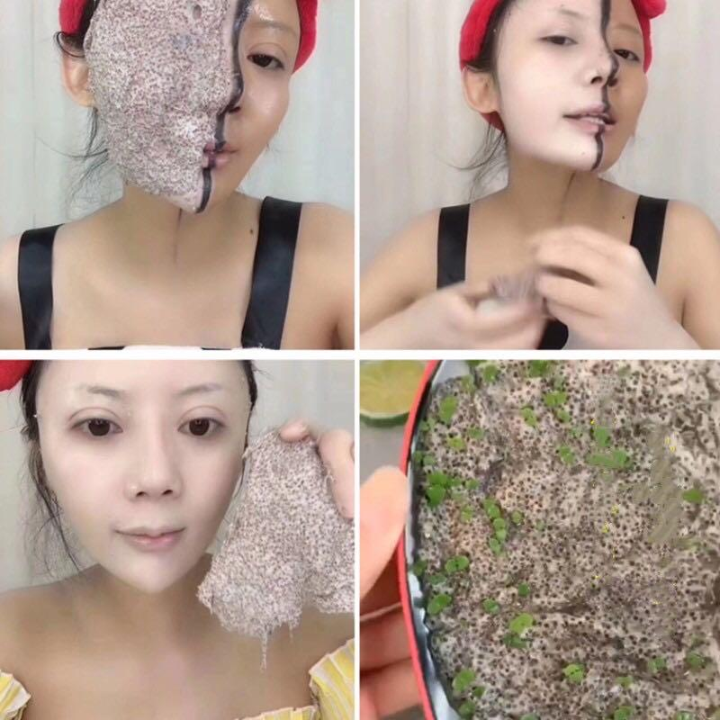 Clay mask seaweed instant whitening