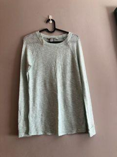 F21 sage/ mint green knitted long sleeve top