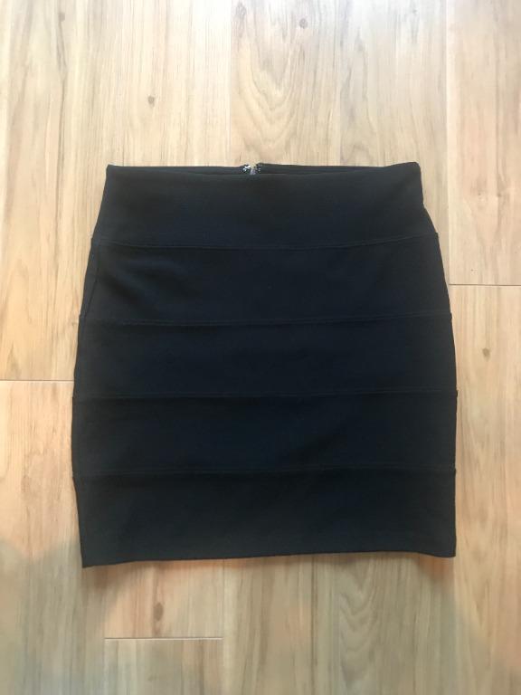 Forever 21 Black Bodycon Mini Skirt