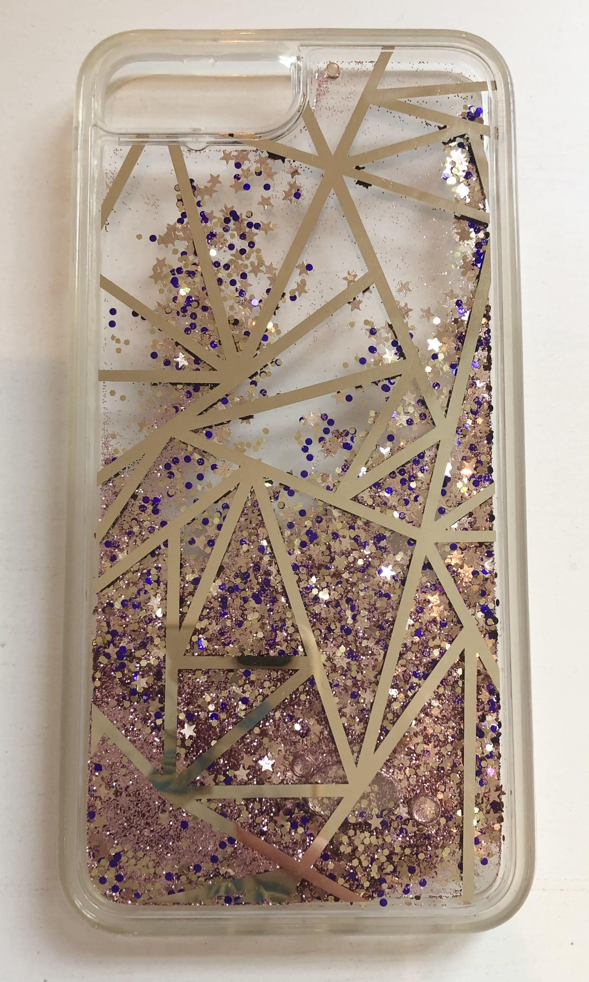 Glitter iPhone 8 Plus phone case.