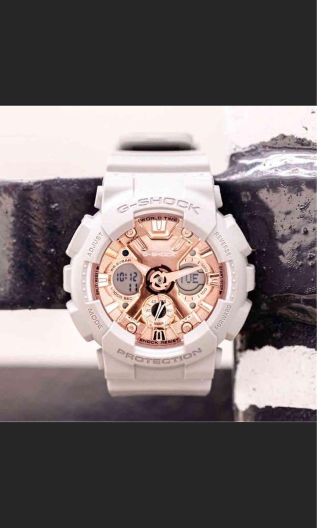 G-shock 玫瑰金手錶