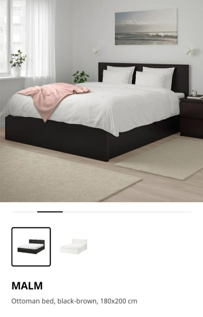 Ikea Ottoman Malm King Size Bed Furniture Beds Mattresses On Carousell
