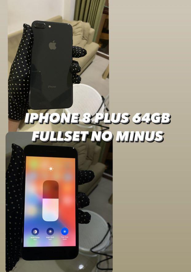 Iphone 8 plus 64gb fullset no minus