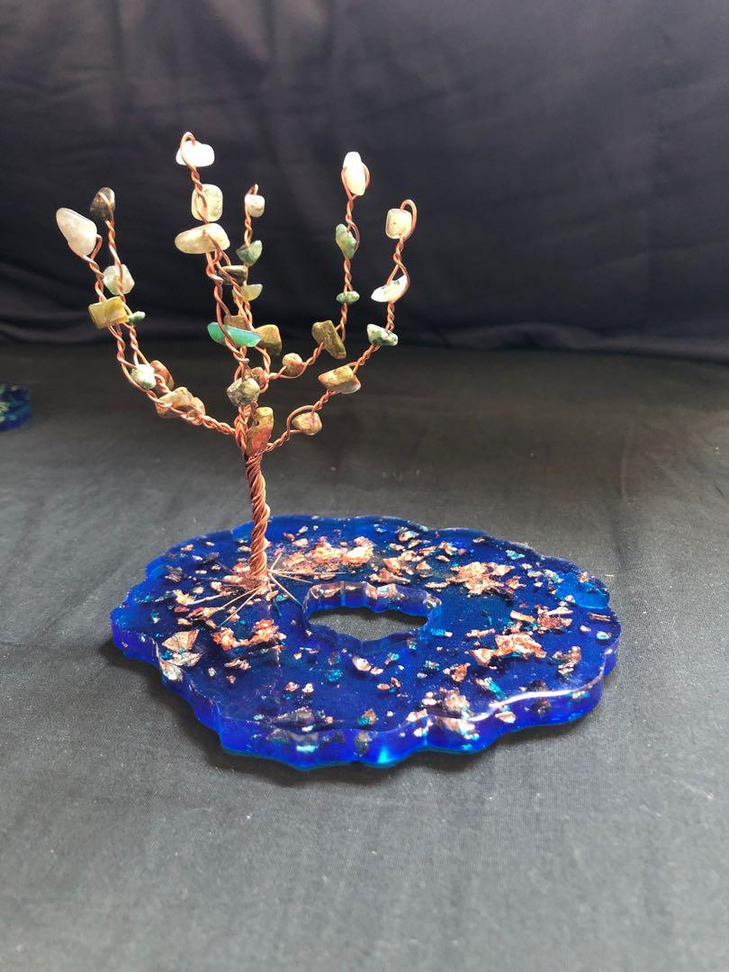 Mini copper wire tree