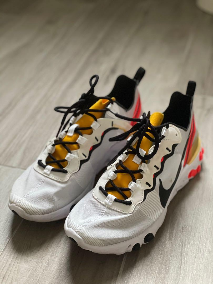Nike React Element 55 trainers in white