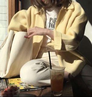 Oversized Yellow Cardigan