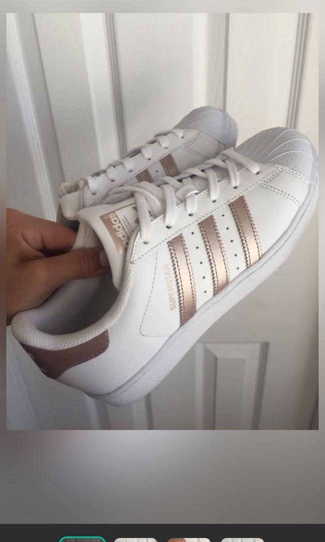 Rose Gold Adidas Originals Superstar (Size 6)