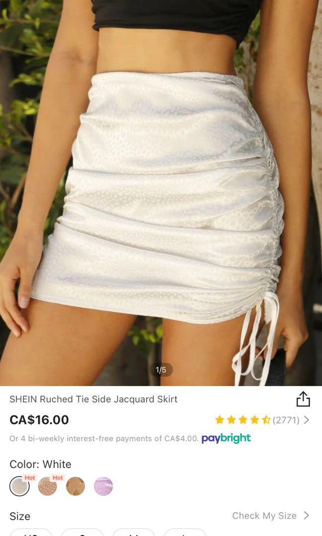 shein ruched skirt