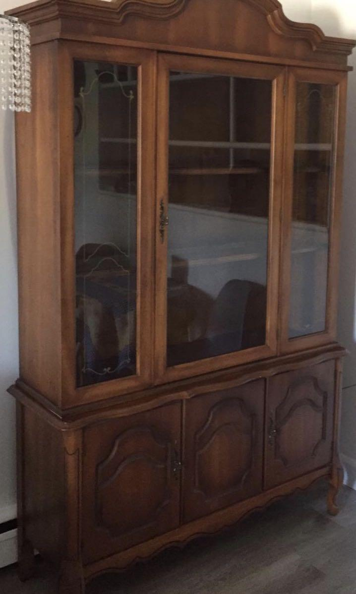 Solid wooden hutch