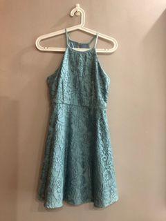 The Closet Lover TCL Halter neck dress teal blue