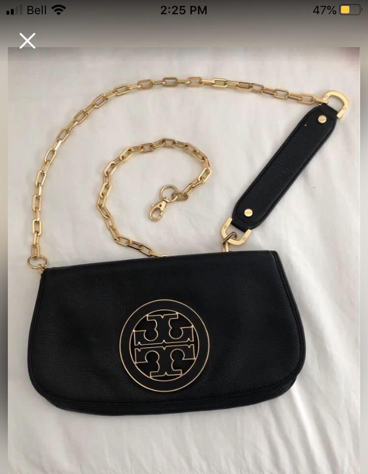 TORY BURCH 'Amanda' leather clutch/crossbody bag